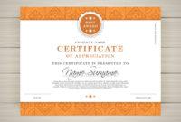 Elegant Certificate Template  Free Vector inside Quality Elegant Certificate Templates Free