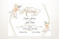 Elegant Wedding Certificate Printable Certificate Of intended for Elegant Gift Certificate Template