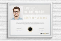 Employee Of The Month Award With Picture  Employee for Employee Of The Month Certificate Templates