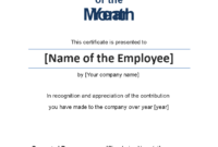 Employee Of The Month Certificate Photo Portrait within Quality Employee Of The Month Certificate Template With Picture