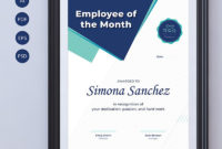 Employee Of The Month Certificate Template 68043 within Best Employee Of The Month Certificate Templates