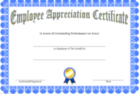 Employee Of The Month Certificate Template Word Free 2020 inside Winner Certificate Template Ideas Free