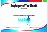 Employee Of The Month Certificate Templates  10 Best Ideas regarding Employee Certificate Template Free 10 Best Designs