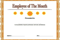 Employee Of The Month Certificate Templates Free In 2020 for Certificate Of Employment Templates Free 9 Designs