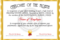 Employee Of The Month Free Certificate Templates For with regard to Years Of Service Certificate Template Free 11 Ideas