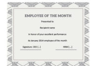 Employee Of The Year Certificate Templates  Best Samples within Employee Of The Year Certificate Template Free