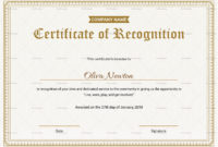 Employee Recognition Certificate Design Template In Psd Word with regard to Printable Certificate Of Employment Template