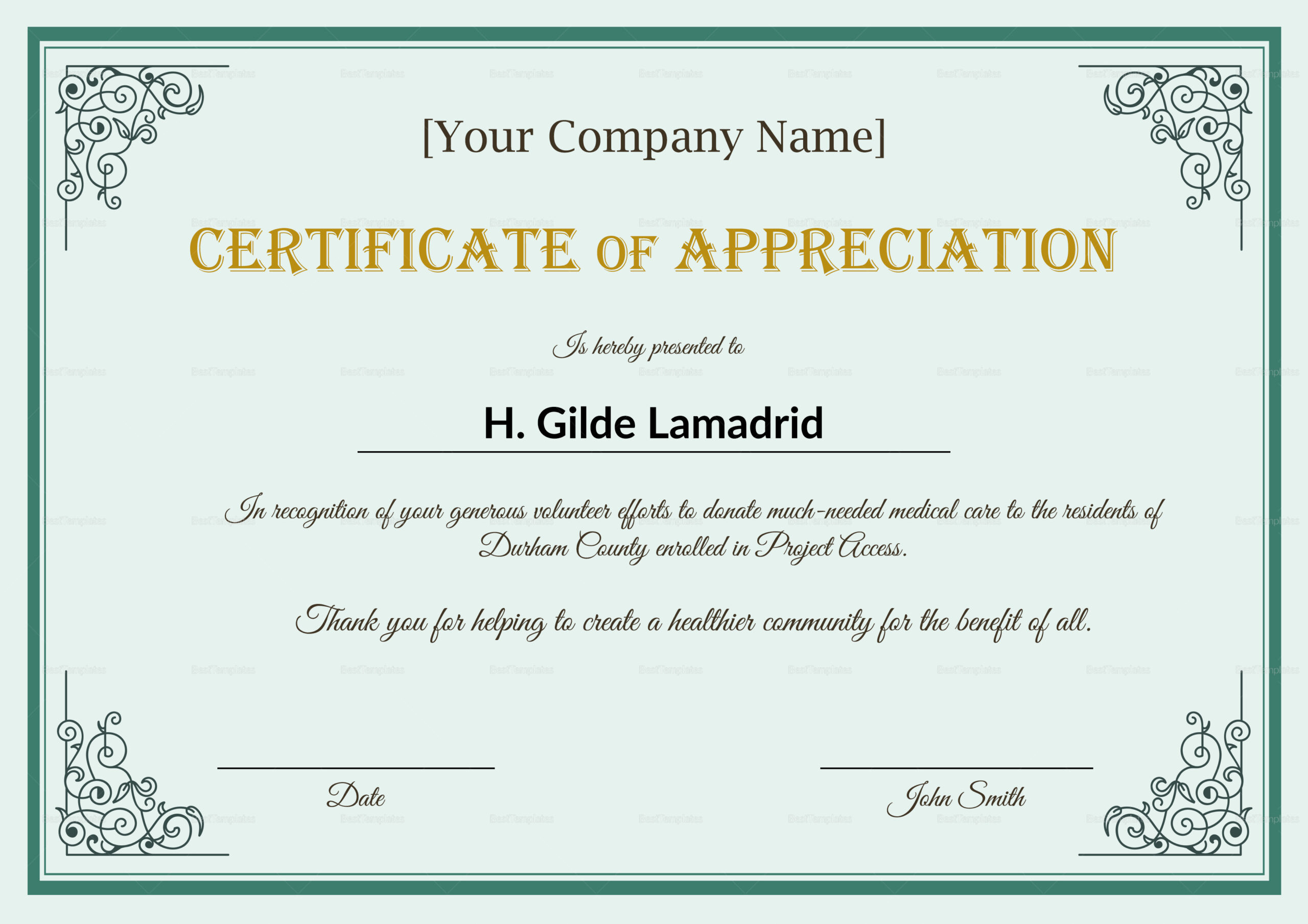 Employee Recognition Certificates Templates  Calep With with regard to Volunteer Of The Year Certificate Template