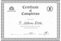 Eps Certificate Of Completion Design Template In Psd Word with Certificate Of Completion Template Word