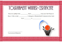Especially For The Winners This Basketball Tournament regarding Basketball Participation Certificate Template