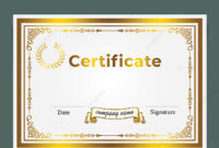 European Style Border Certificates Horizontal Template For pertaining to Amazing Borderless Certificate Templates