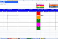 Excel Raid Log  Dashboard Template pertaining to Best Change Management Log Template