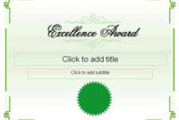 Excellence Award Certificate  Free Certificate Templates within Awesome Academic Excellence Certificate