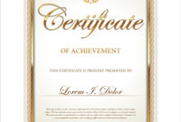 Exquisite Certificate Frames With Template Vector 03 Free throughout Awesome Certificate Border Design Templates