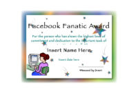 Facebook Fanatic Award Funny Certificate Template  Pdf inside Amazing Free Funny Certificate Templates For Word