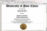 Fake Diploma Certificate Template 1  College Diploma pertaining to Amazing Fake Diploma Certificate Template