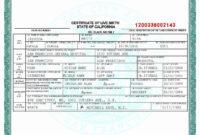 Fake Divorce Certificate Template Beautiful Fake Divorce throughout Birth Certificate Fake Template