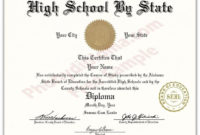 Fake High School State Design Diplomas  Select A State throughout Amazing Fake Diploma Certificate Template