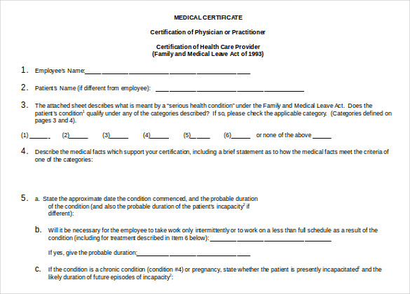 Fake Medical Certificate Template Download 6  Templates throughout Free Fake Medical Certificate Template
