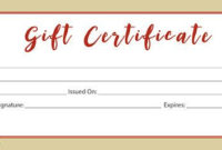 Fall Decor Fall Fall Leaves Gift Certificate Download in Awesome Small Certificate Template
