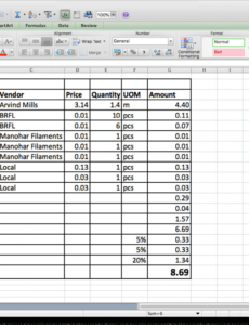 Fashion Cost Sheet Template inside Cost Of Goods Sold Spreadsheet Template
