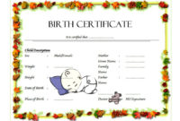 Fillable Birth Certificate Template Free 10 Various Designs within Editable Birth Certificate Template