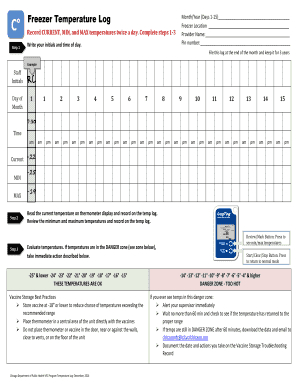 Fillable Freezer Temperature Log Forms And Document Blanks with regard to Best Refrigerator Temperature Log Template