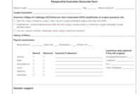 Fillable Online Preoperative Evaluation Encounter Form throughout Call Back Log Template