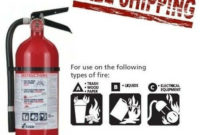 Fire Extinguisher Abc Dry Chemical Rechargeable with regard to Fire Extinguisher Training Certificate