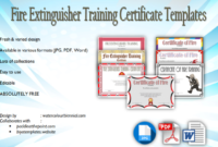 Fire Extinguisher Training Certificate Template Free 7 intended for Quality Firefighter Certificate Template
