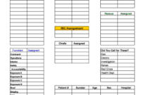 Fire Incident Command Worksheet  Fillable  Printable with Quality Safety Training Log Template