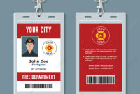 Firefighter Id Badge Design Template Template For Free in Firefighter Certificate Template