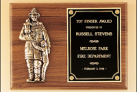 Firefighter Recognition Plaque  Fireman Award in Quality Firefighter Certificate Template