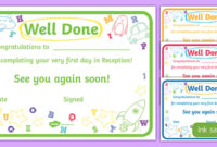 First Day Award Certificates Reception Teacher Made with regard to First Day Of School Certificate Templates Free