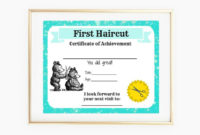 First Haircut Certificate Baby First Haircut Photo  Etsy for First Haircut Certificate