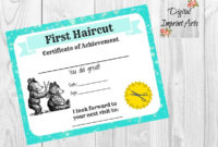 First Haircut Certificate Baby First Haircut Photo  Etsy with regard to First Haircut Certificate