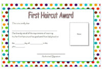 First Haircut Gift Certificate 6 in Quality Certificate For Best Dad 9 Best Template Choices