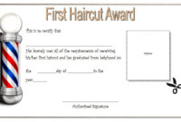 First Haircut Gift Certificate 8 with Free 10 Free Editable Pre K Graduation Certificates Word Pdf