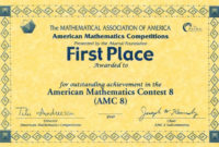 First Place Award Certificate  Carlynstudio regarding Amazing First Place Award Certificate Template