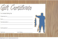 Fishing Gift Certificate Editable Templates 7 Latest pertaining to Editable Fitness Gift Certificate Templates