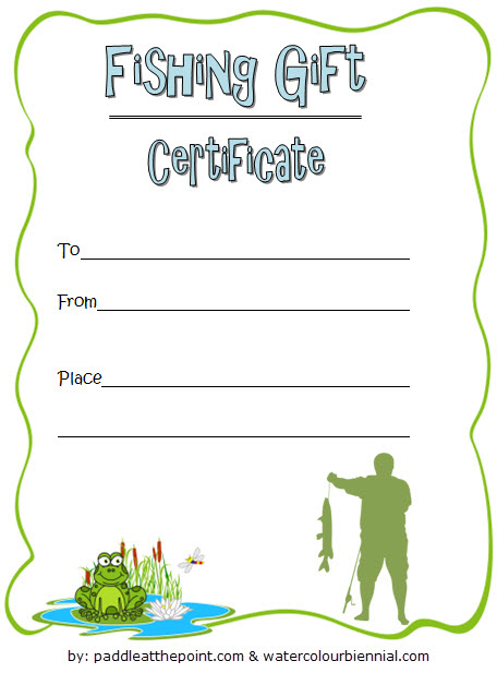 Fishing Gift Certificate Editable Templates 7 Latest pertaining to Printable Editable Swimming Certificate Template Free Ideas