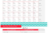 Fitness Tracker Printable  Fitness  Workout Calendar pertaining to Amazing Weight Loss Certificate Template Free 8 Ideas