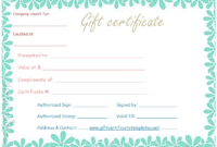 Flower Border Gift Certificate Template  Gift Certificate throughout Small Certificate Template