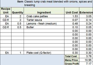Food Truck Cost Spreadsheet  Spreadsheets in Recipe Cost Spreadsheet Template