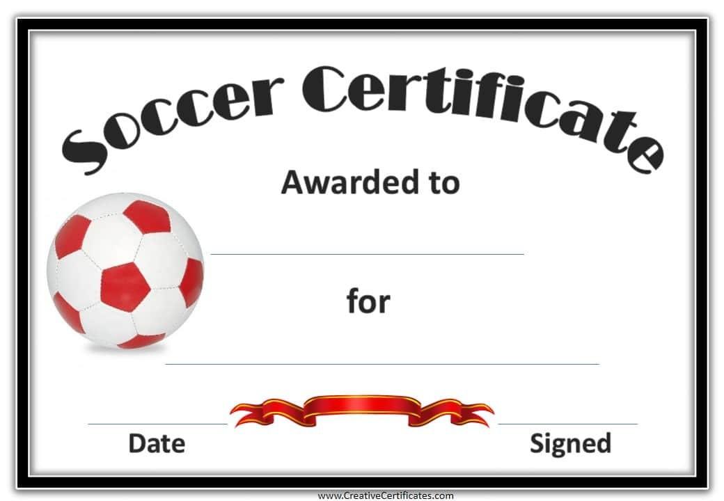 Football Certificates Free  Carlynstudio inside Free Football Certificate Template