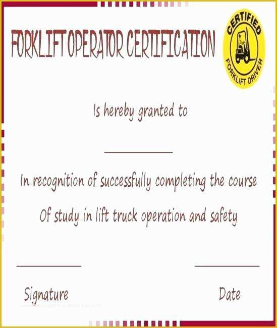 Forklift Certification Card Template Free Of Wallet Card throughout Amazing Forklift Certification Card Template
