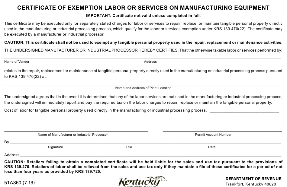 Form 51A360 Download Printable Pdf Or Fill Online inside Awesome Certificate Of Manufacture Template