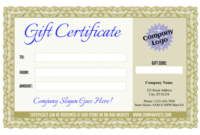 Formal Gift Certificate Templates 3 And 4 throughout Donation Certificate Template