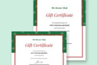 Free 11 Gift Certificate Templates In Ai  Indesign  Ms inside Amazing Homemade Christmas Gift Certificates Templates