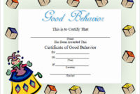 Free 13 Certificate Templates For Kids In Psd  Ms Word intended for Free Good Behaviour Certificate Editable Templates